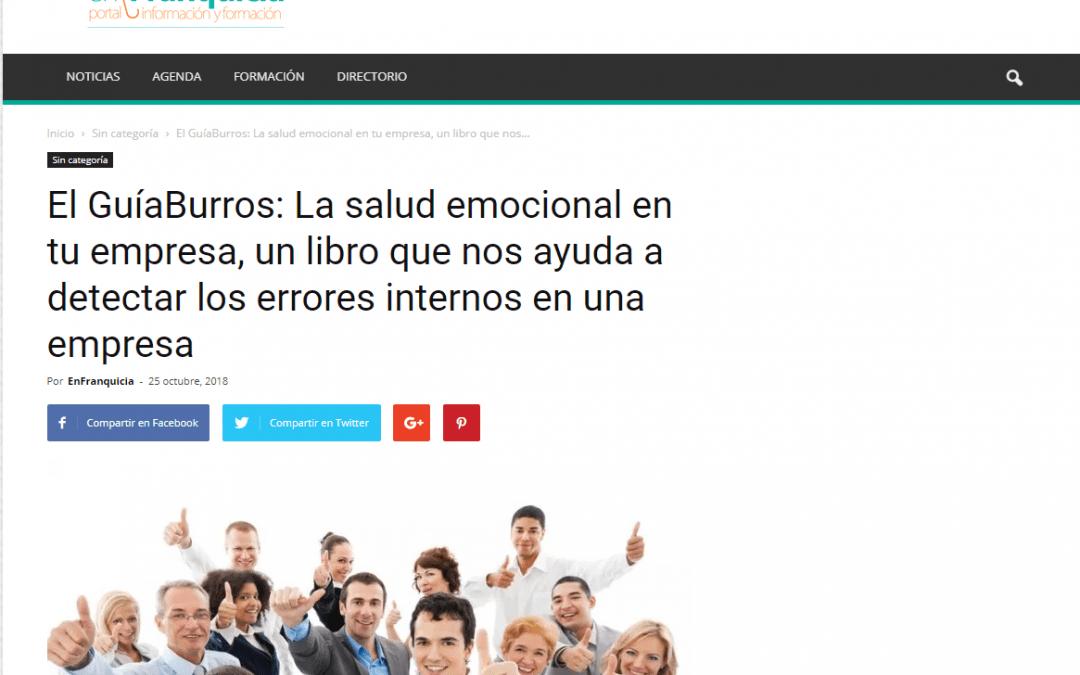 El medio online EnFranquicia recomienda el GuíaBurros: La salud emocional en tu empresa, de Sebastián Vázquez